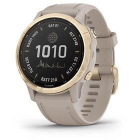 Garmin Fenix 6S Pro Solar Smartwatch GPS, beige/oro